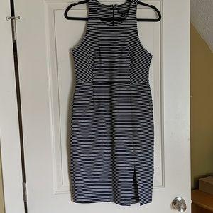 Banana Republic Navy White Striped Dress